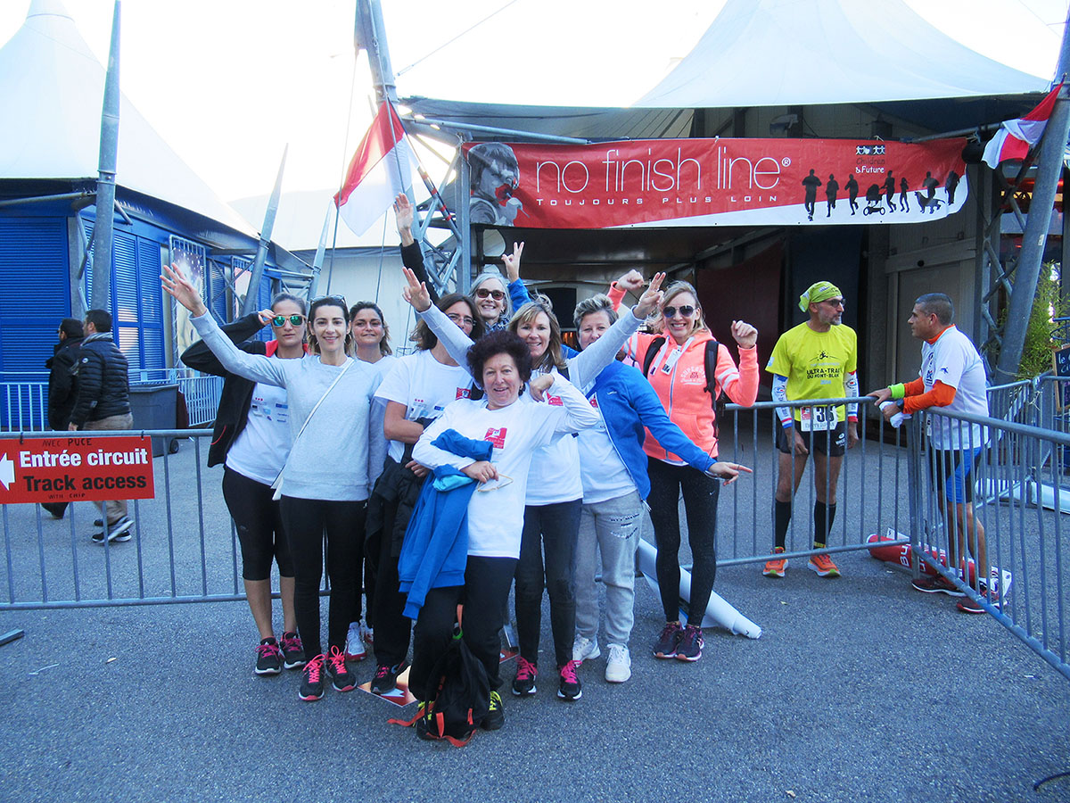 Participation à la No-Finish Line 2017 à Monaco organisée par l'association Children & Future